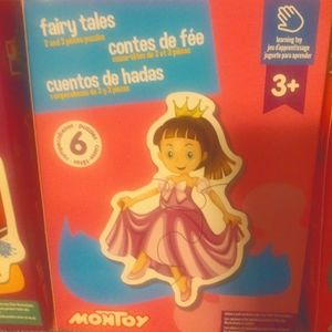 Childrens puzzle set of #3 boxes
